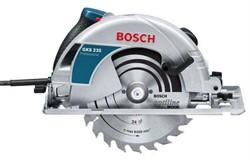 BOSCH GKS 235 Turbo Professional Пила дисковая для самых сложных задач с прочной опорной пластиной( 2050 Вт, пропил 85 мм, диск 235*30, вес 7.5 кг) - фото 189099