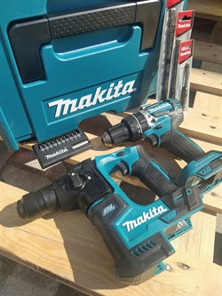 MAKITA DLX2278JX3 Набор инструментов (DHR171 + DHP484) Перфоратор 18V (BL мотор, 1.2ДЖ)+ударный шуруповерт 18V (BlMotor 54Нм) +3 бура(6,8,10мм) +набор бит+чемодан MakPac1. Без Аккумулятора и зарядного устройства - фото 208452