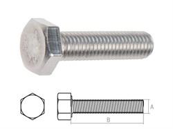 Болт М8х60 шестигр., нерж.сталь(А2), DIN 933 (100 шт в карт. уп.) (STARFIX) (093328-60) [09332860]