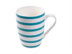 Кружка керамическая, 350 мл, голубая полоска, PERFECTO LINEA (30-008521)