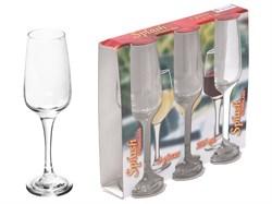Набор бокалов для шампанского, 3 шт., 235 мл, 220х64 мм, серия Splash, DIAMOND (SW134A-40) [SW134A40]