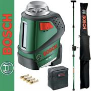 АКЦИЯ! Комплект: Лазерный линейный нивелир PLL 360 + штанга TP 320 BOSCH  (0603663003)