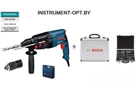 Bosch GBH 2-26 DFR в L-Case  + набор оснастки в дополнительном чемодане 11 предметов (9 буров + 2 зубила) Перфоратор SDS-Plus в чемодане с дополнительным патроном.