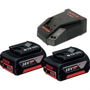 Bosch StarterSet 4.0 (GAL 18V-40 + 2 x GBA 18В 4.0Ah) Зарядное устройство + 2 аккумулятора по 4.0 Ah (1600A019S0)