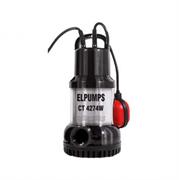 Elpumps CT 4274W Насос погружной для чистой воды 800 Вт, глубина 5 м, 250 л/мин, высота подъема 11 м, твердые частицы до 3 мм.
