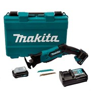 Аккумуляторная Сабельная пила MAKITA JR105DWAE  в чем. (12V, 2  аккумулятора*2.0Ah, дерево до 255 мм, металл до 20 мм) (JR3050T)