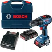 Шуруповёрт аккумуляторный бесщёточный  BOSCH GSR 18V-50 (18V, 2*2.0Ah,50Нм,2 скорости,EC мотор, L-case)