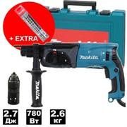 Перфоратор MAKITA HR 2470 FT в чем. + Набор буров SDS-Plus MAKITA 3 шт. (6, 8, 10x160) (P-52831) (780 Вт, 2.7 Дж, 3 реж., патрон SDS-plus, быстросъемн (HR2470FTA1)