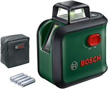 BOSCH Advanced Level 360 set Лазерный нивелир с ЗЕЛЕНЫМ лучем (плоскость на 360 градусов, 24м, отвес)