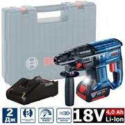 BOSCH GBH 180-LI (1*4.0 Ah + зарядное GAL 18V-40) БЕСЩЁТОЧНЫЙ Перфоратор со стартовым комплектом  18v, 2.0Дж, вес 2.3кг,чемодан)