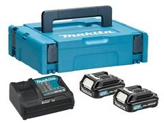 Комплект аккумулятор 12.0 В BL1020B 2 шт. + зарядное устройство DC10SB в кейсе (Набор BL1020B 12.0V 2,0 Ah 2 шт. + DC10SB) (MAKITA) (197658-5)