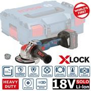 BOSCH GWX 18V-10 С в коробке Аккум. углошлифмашина  БЕСЩЕТОЧНАЯ EC-Motor в чем. (18.0 В, БЕЗ АККУМУЛЯТОРА, диск 125х22.0 мм,Bluetooth Low Energy) (06017B0200)