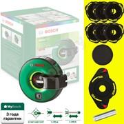 BOSCH Atino Нивелир лазерный со встроенной рулеткой для ручного выравнивания+6 гелевых подушек (рабочий диапазон рулетки 1.5 м,  +/-0,3 мм/м)