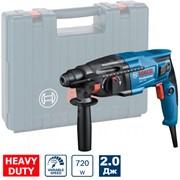 BOSCH GBH 220 Перфоратор SDS-PLUS в чемодане (3-х режимный 720 Вт, 2.0 Дж, 22 мм в бетоне, 0-2000 об/мин)