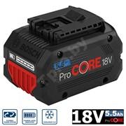 Аккумулятор BOSCH GBA ProCORE18V 5.5 Аh (увеличенный ресурс на 135%, охлаждение COOLPACK 2.0)