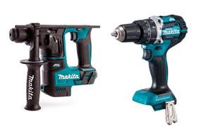 MAKITA DLX2278 Набор инструментов (DHR171 + DHP484) Перфоратор 18V (BL мотор, 1.2ДЖ)+ударный шуруповерт 18V (BlMotor 54Нм) Без Аккумулятора и зарядного устройства