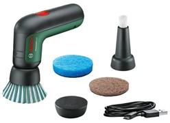 BOSCH UniversalBrush Щётка аккумуляторная очистки от загрязнений различной степени (3.6 В, 1.5Ah,   щеткодержатель с креплением на липучке, щелевая щетка, щетка из микрофибры, щетинная щетка,  абразивная щетка)