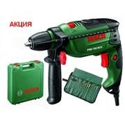Bosch Ударная дрель PSB 750 RCE АКЦИЯ!!! + чемодан + набор оснастки из 19 предметов Tin Wrap 0603128504