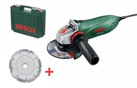 Bosch Угловые шлифмашины PWS 750-125 АКЦИЯ!!! в чемодане + алмазный диск 0603164101