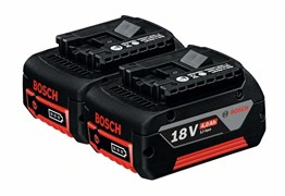 Аккумулятор Комплект аккумуляторов Bosch GBA 18 В 4,0 А*ч M-C [1600Z00042]